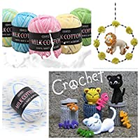 DIY Soft Wool Crochet Kniting Yarn 3 Strands of Colored Floral Lines Knit Wool Yarn Baby Yarn for Knitting Sweater Hats