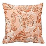 海の手描きのパターンインテリア クッションカバー ピローカバー 枕カバー 雑貨 45×45cm