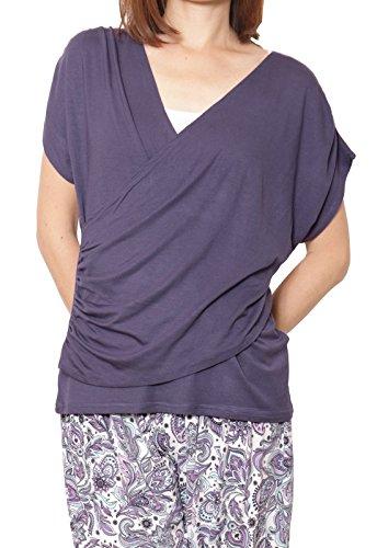 Panetone(パネットワン)『ヨガウェア サリードレープカシュクールTシャツ トップス』