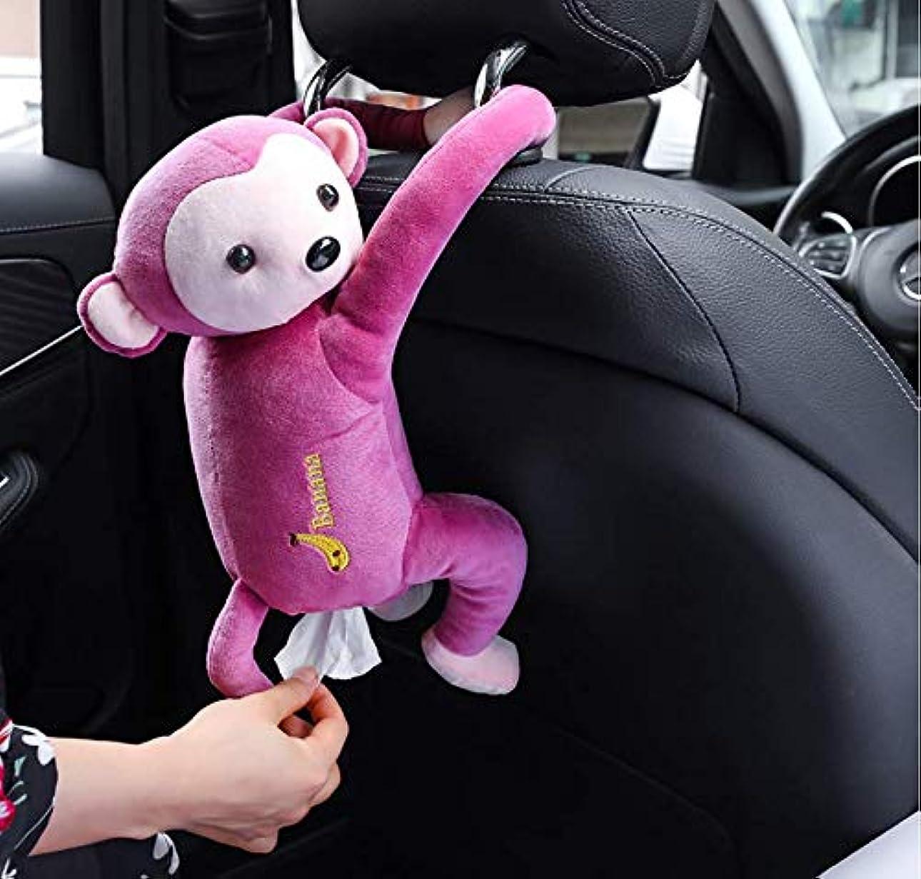 説得力のある押す引き付けるCozyswan さるスタイルティッシュボックス おもしろい 両手にボタンで嵌め込む 車内 掛ける可能 かわいい お尻から引き出す