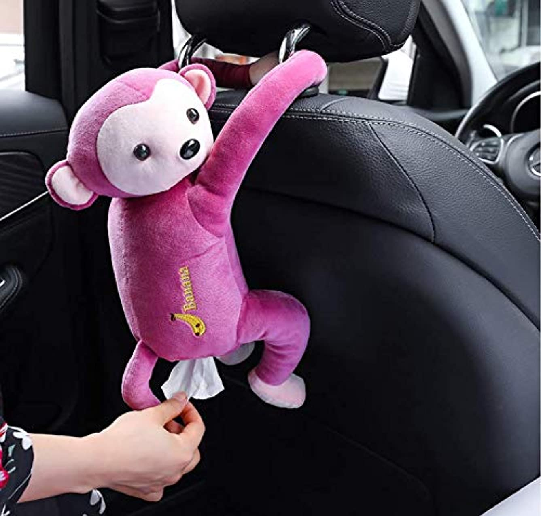 ノベルティ無駄なビヨンCozyswan さるスタイルティッシュボックス おもしろい 両手にボタンで嵌め込む 車内 掛ける可能 かわいい お尻から引き出す