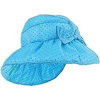 Perfk ベビー UVカット 太陽の帽子 ベビー帽子 ベビーキャップ ベビーハット つば広 日焼け防止 紫外線防止 軽量 全5色