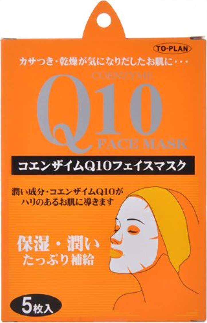 床を掃除する燃やす万一に備えてTO-PLAN(トプラン) Q10フェイスマスク 5枚入り