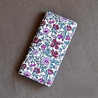 iPhoneSEケース iPhone5sケース 手帳型 リバティ・メドゥ(ワイン) コーティング SHOKO MIYAMOTO かわいい おしゃれ マグネット無しでカード安全 スマホケース アイフォンケース Liberty