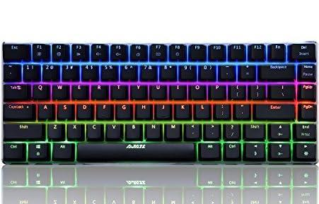 A-JAZZゲーミングキーボード キー毎LED搭載 キー配列82英語 zorro青軸メカニカルキースイッチ AK33RGB