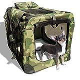 ペットケージ ソフトタイプ XL(グリーン迷彩) 約58.4×81.3×58.4cm 【ドライブボックス】【ソフトクレート】【犬 猫 中型犬用】【折りたたみ】【持ち手付き 移動らくらく】O-SDT3005BXL-CP