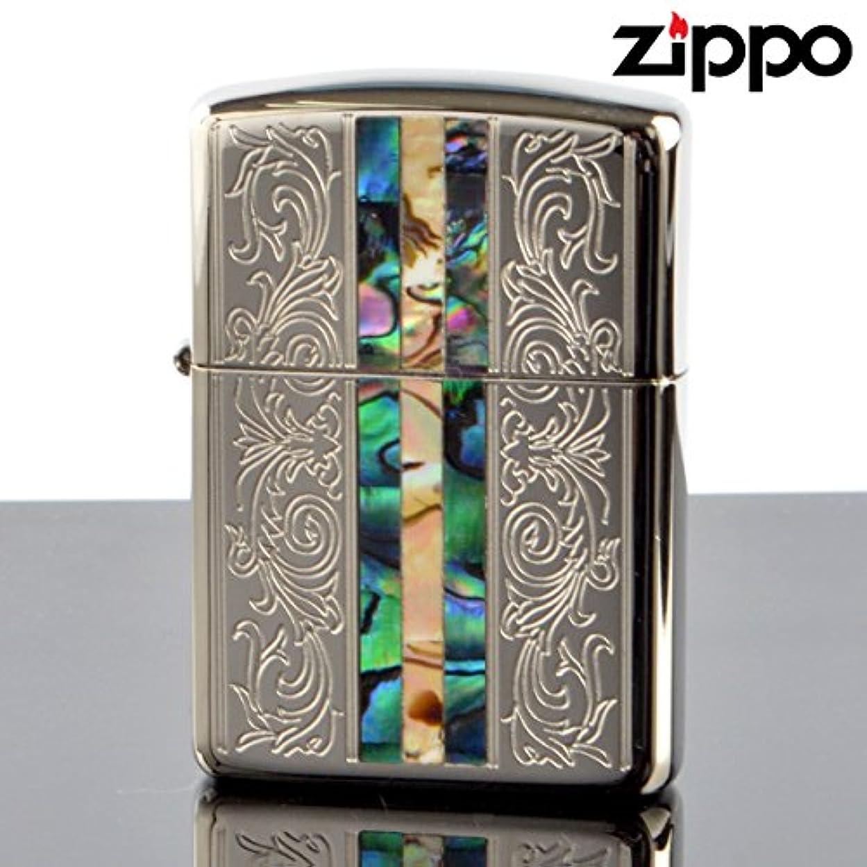 含める特異な軽ZIPPO#162 アーマージッポー 貝貼りシリーズC 162kb-clsp (10020085)