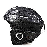 KYAWJY サイクリング、スクーティング、スケート、スキー用の通気性の12の通気口がある調節可能な子供用安全自転車用ヘルメット(22-23インチ) (Color : Black)