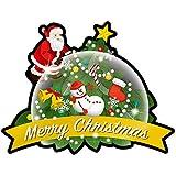 ボードの装飾パネルです! Pデコパネ(デコレーションパネル) 25844 Merry Christmas スノードーム 〈簡易梱包