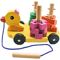 TOAOB木製Duck教育おもちゃShape Sorting Toy for Children学習