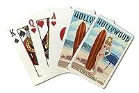 Hollywood , California–サーファーピンナップ( Playingカードデッキ–52カードPokerサイズwithジョーカー)