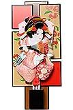 【羽子板】【額飾り壁掛けミニサイズ】京彩パールレッド額:10号振袖羽子板【額入羽子板】【正月飾】