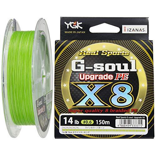 よつあみ(YGK) PEライン Gソウル X8 アップグレード 150m 0.6号 14lb 8本 グリーン