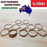 12pcs Gold Colour Ring Set Kids Girls Size Rings Fashion Jewellery