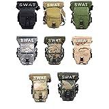 【カラーが選べます】軍用 腰 脚 レッグ バッグ 特殊部隊 SWAT アウトドア ミリタリー サバゲー 2WAY ポーチ (グリーン)