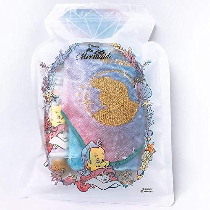 呼吸するメタリック包括的SHO-BI ディズニーリトルマーメイド ジッパーバッグギフト ハンドクリーム+ハンドタオル アリエル ブルーオーシャン ギフト [380538]