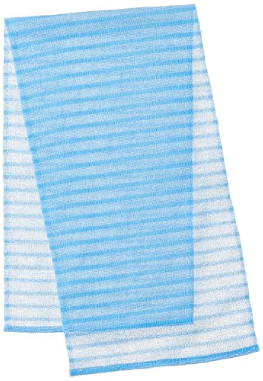 反響する平らな実現可能性キクロンファイン お風呂グッズ 泡シャリ感 ボディタオルかため ブルー