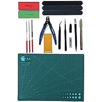 Perfk ガンダムモデラー用 サイドカッター 彫刻ペン 研削パッド A4カッティングパッド 基本ツールキット