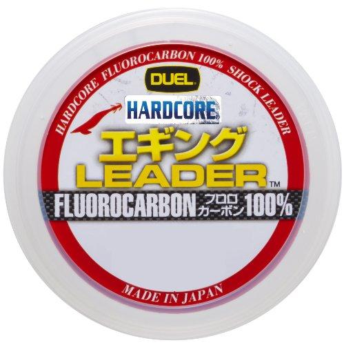 デュエル(DUEL) ショックリーダー(フロロカーボン): HARDCORE エギング LEADER 30m 2.5号 : ナチュラルクリ...