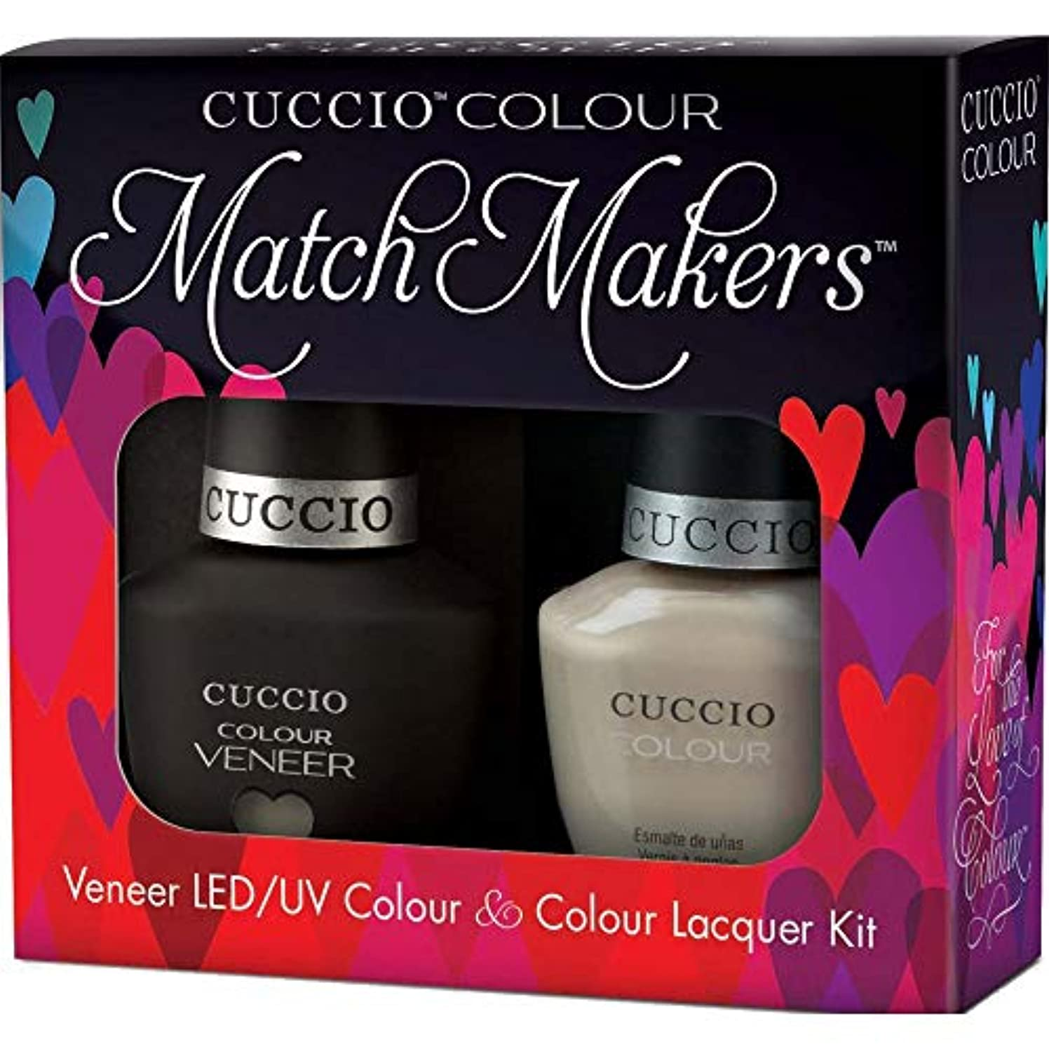 複数私たち運賃Cuccio MatchMakers Veneer & Lacquer - Fair Game - 0.43oz / 13ml Each