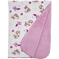 Bedtime Originals Sherpa/Velour Blanket, Lavender Woods by Bedtime Originals