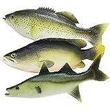 TOOGOO 子供のための3個の模擬魚モデル遊び、家の装飾、市場の表示、写真の小道具