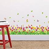 Amazon.co.jpZooArts 牧歌的なスタイル ゆうJinxiang花 蝶 取り外し可能な ウォールステッカー 壁デカール 壁紙