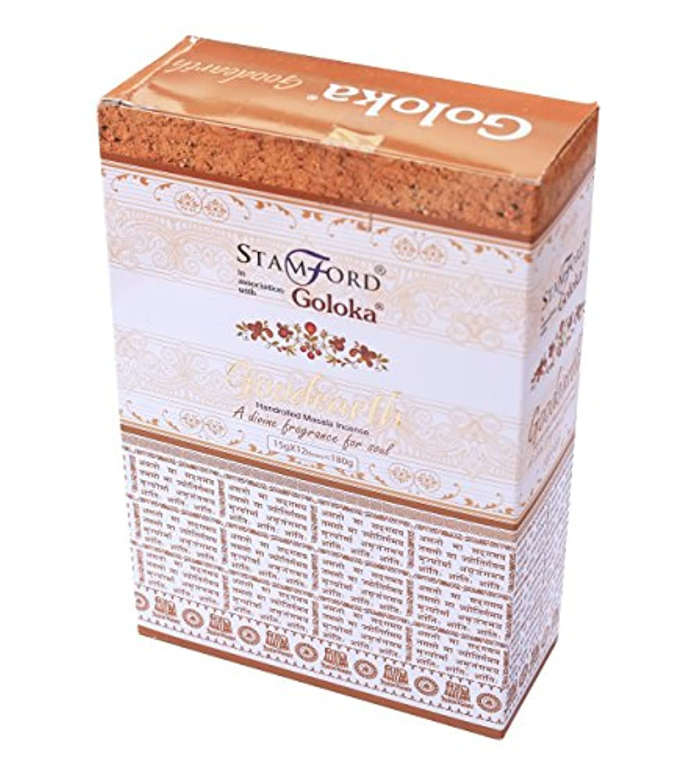打たれたトラックコントラストホーン(Box of 12 Packs) - Goloka Goodearth Incense, 15 Gms x 12 Packs