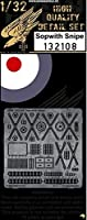 HGW 1: 32Sopwith Snipe For Wingnut Wings–PE Detail Set # 132108