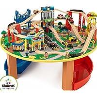Kidkraft City Explorer's Train Set and Table (100 Pieces) [並行輸入品]