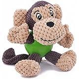 EETOYS 犬おもちゃ ペット用玩具 ぬいぐるみ 音の出る 歯ぎ清潔 犬噛む 丈夫 ストレス解消 小型犬・中型犬に適応 ペットのプレゼント モンキーさん