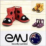 (エミュ) emu ブーツ LITTLE CREATURES MINI キッズ ムートンブーツ シープスキン K10-15.0cm GOLD-(GIRAFFE)