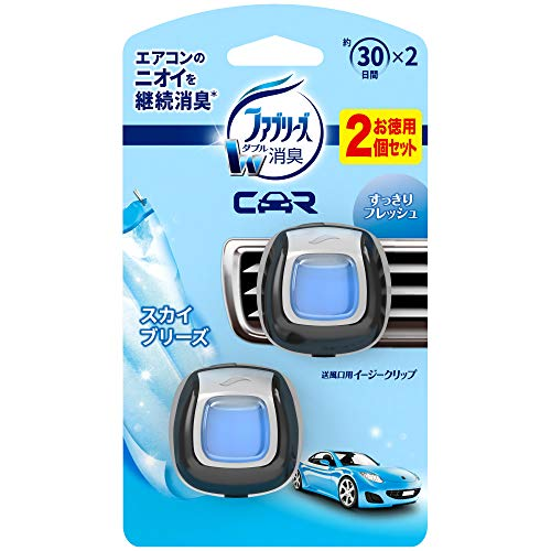 ファブリーズ 車用 クリップ型 消臭芳香剤 イージークリップ スカイブリーズ 2mL×2個