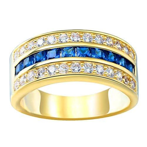 (ビグッド)Bigood 925ゴールド リング レディース 指輪 メンズ 婚約 ジルコニア ステンレス シンプル 誕生石 彼女 プレゼント 8号