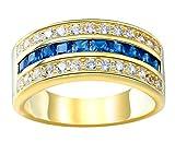 (ビグッド)Bigood 925ゴールド リング レディース 指輪 メンズ 婚約 ジルコニア ステンレス シンプル 誕生石 彼女 プレゼント 12号