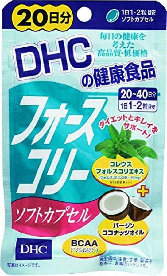 吐く勤勉誇張DHC フォースコリーソフトカプセル 20日分 40粒【3個セット】