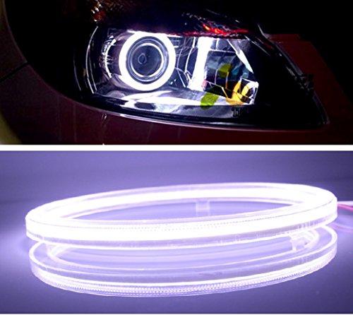 高輝度 COB LED リング ライト 2個 セット カバー 付き 12V イカリング エンジェルア...