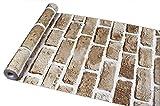 【誰でも簡単DIY壁紙シール】 北欧 レンガ調 ウォールステッカー かんたん貼付シールタイプ 45cm×10m 防水 (アンティーク)