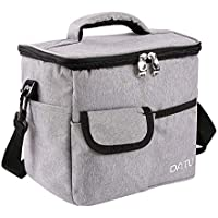 DA TU ランチバッグ 人気の保冷バッグ 高級保温弁当バッグ 【約7L】 (グレー)