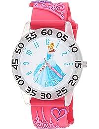 ディズニーGirl 'sプリンセス' QuartzプラスチックCasual Watch, Color :ピンク(モデル: wds000397)