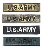 【4点セット】 U.S.ARMY 着脱式ベルクロワッペン 13.5×3cm 4枚セット 【マルチカム迷彩 + ACU迷彩 + ブラック/ホワイト + グリーン/ブラック】