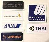 スターアライアンス系列航空ステッカー6種類セット スーツケースカスタマイズ用シール並行輸入品(スターアライアンス・ユナイテッド・ルフトハンザ・ANA・シンガポール・タイ)