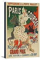 パリコースヴィンテージポスター(アーティスト: Cheret )フランスC。1890 24 x 36 Gallery Canvas LANT-3P-SC-64322-24x36