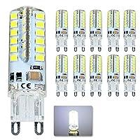 導かれたトウモロコシの球根 10倍G9 LED電球SMD 2835 G9 4W 48 LEDコーンライト360度220V交換ハロゲンランプ48LED AC 200-240V (色 : クールホワイト)