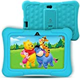 "Dragon Touch Kids Tablet, Y88X Pro Android 9.0 OS 7"" IPS Display 2GB Ram 16GB ROM Kidoz & Google Play Pre-Installed with Kid-Proof Case - Blue"
