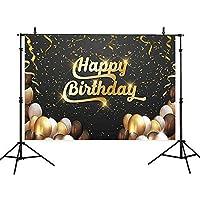 Allenjoy 写真撮影用背景 Happy First Birthdayの背景幕 子供の誕生日パーティー用風船 トロージャン馬 赤ちゃん用 Allenjoy シャワー写真 ポートレート スタジオ小道具
