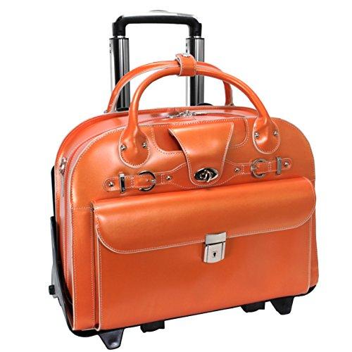 McKlien 96640ローズ96640-オレンジレザーレディースブリーフケース