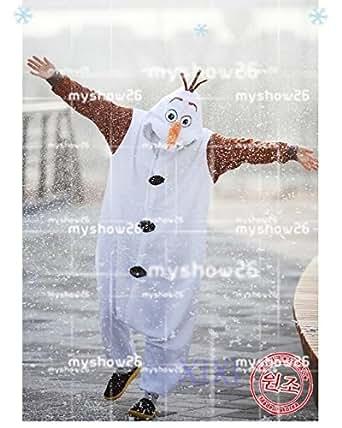 男性M コスプレ衣装 ディズニー アナと雪の女王Frozen オラフOlaf ゆったり ホームウェア ハロウィーン