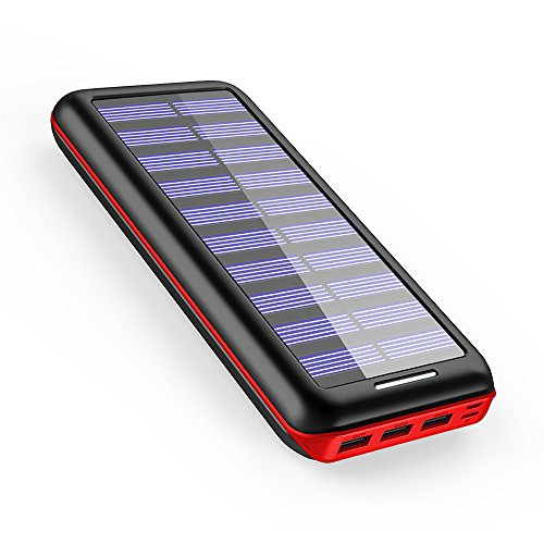 AkeemSolar モバイルバッテリー 22000mAh ソーラーチャージャー 超大容量 急速充電...