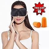 J-DEAL 3D 通気性の良い睡眠用トラベルアイマスクカバー-シルク以上に柔らかく通気性に優れた素材、軽量、睡眠リラクゼーション、スパ..